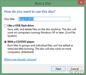 Cara burning file ke CD