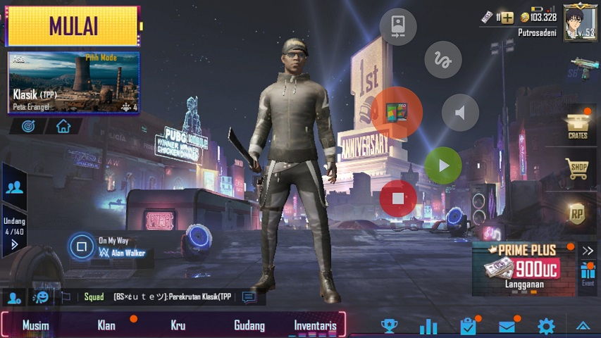 Klik icon Screen Stream Mirroring PUBG Mobile