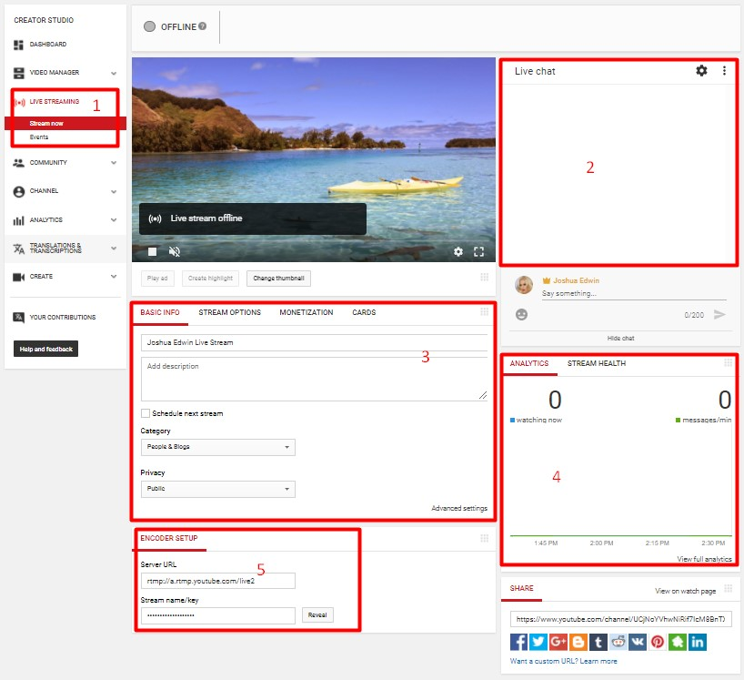 Setting Live Streaming Di Youtube via OBS